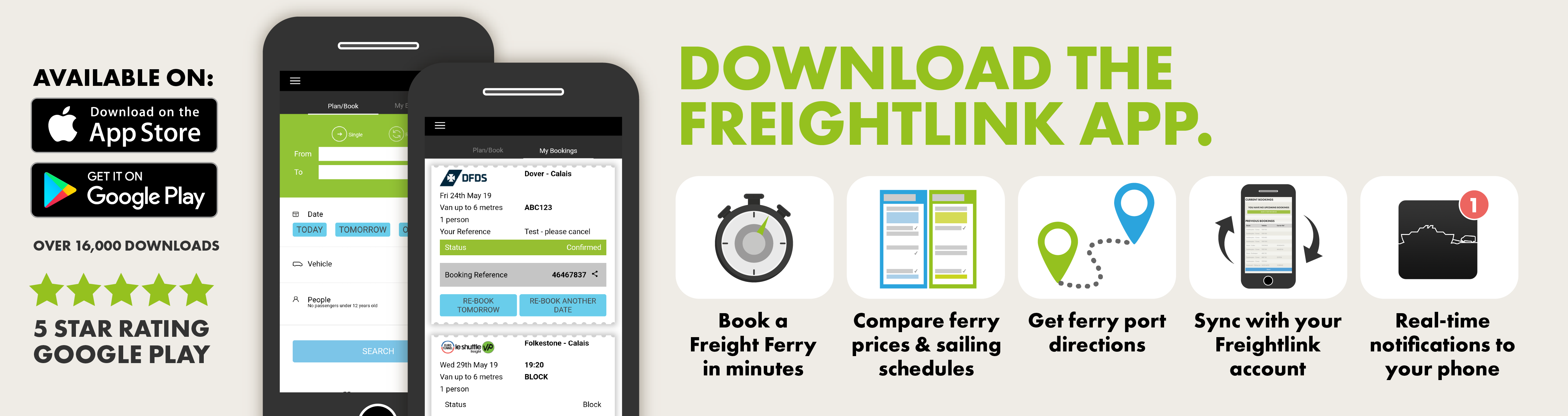 Freightlink App features