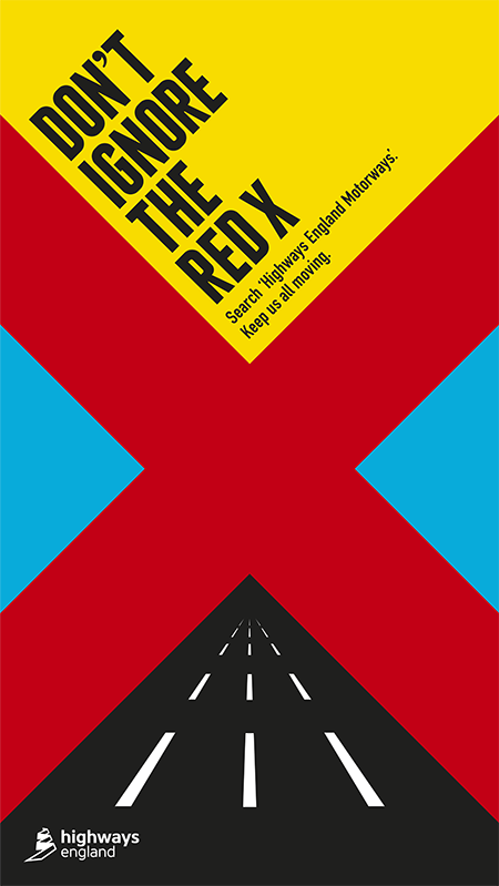 highways england red x