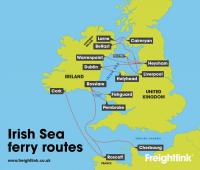 Irish Sea ferry routes