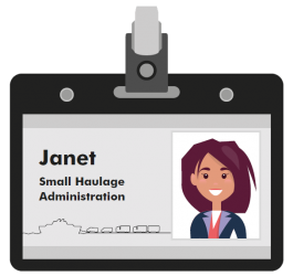 Janet small haulage company administrator