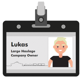 Lukas large haulage company owner