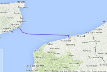 Dover to Dunkirk freight ferry route