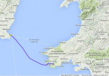 Pembroke to Rosslare freight ferry route