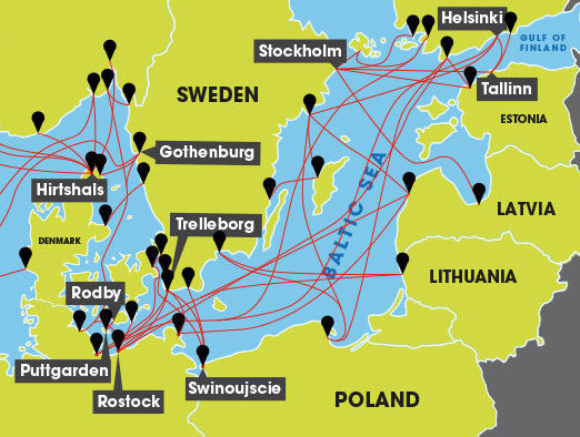 How Do I Get A Ferry From UK To Baltic Sea Countries Freightlink - Map sweden denmark bridge