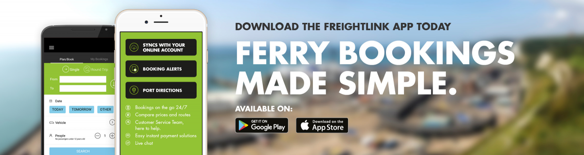 Get the Freightlink App | Freightlink - The Freight Ferry People