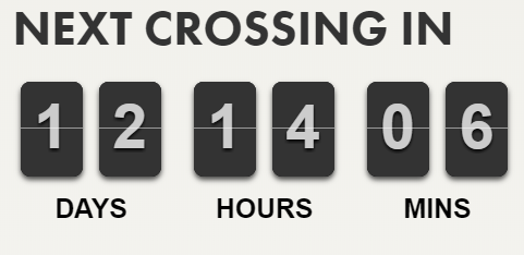 next crossing countdown