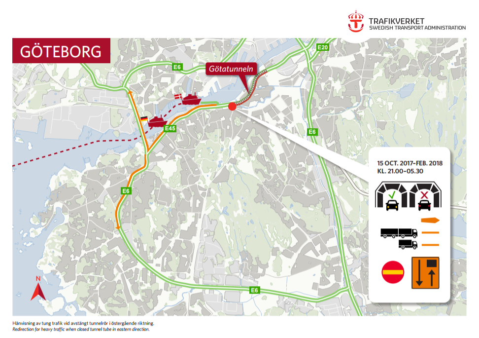 Gothenburg tunnel diversion
