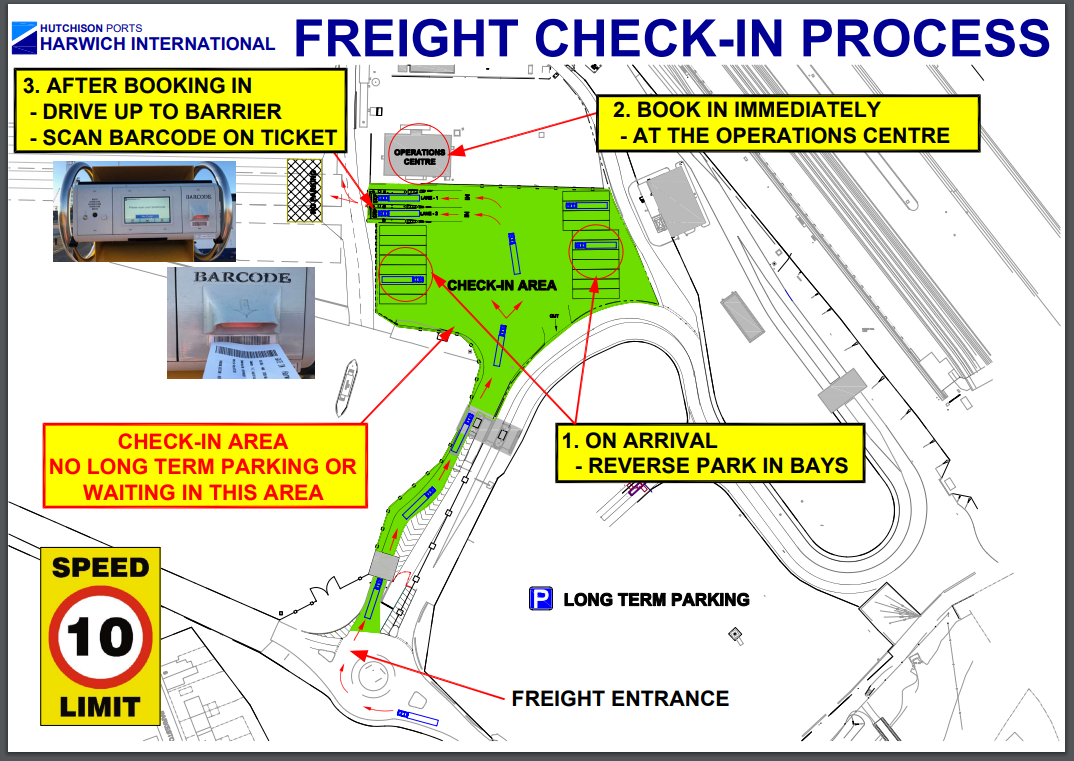 Harwich port freight check in