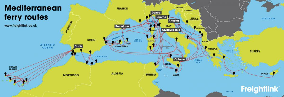 How do I get a ferry from UK to Mediterranean  Freightlink  The