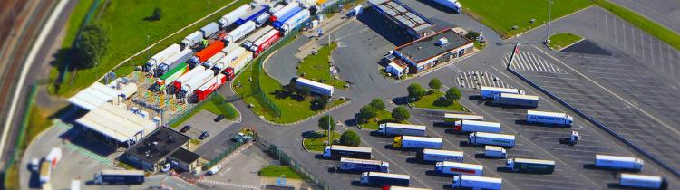 Eurotunnel truck park