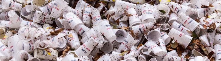Plastic cup rubbish