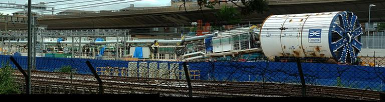 Tunnel boring machine Ada, about to be deployed at the Royal Oak Crossrail portal