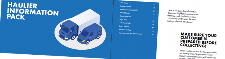 Haulier information pack