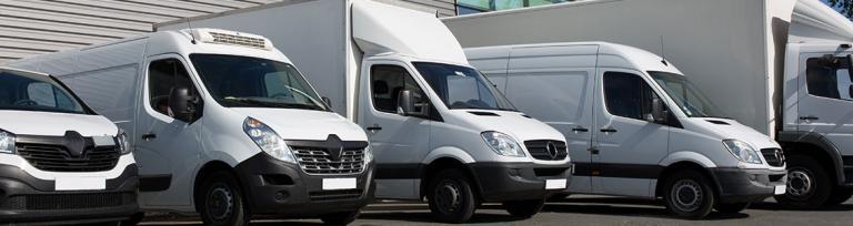 vans parked up