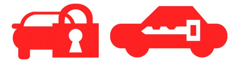 Vehicle locked symbols