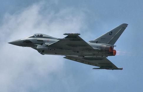 The Eurofighter Typhoon, designed and manufactured by three companies; Alenia Aermacchi, Airbus Group and BAE Systems