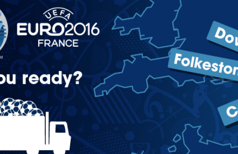 map showing dover will be busy during euro 2016 for freight vehicles