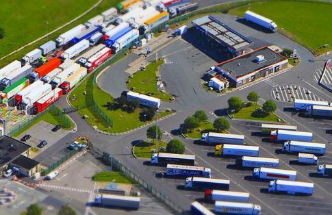 Eurotunnel Coquelles Truck Park