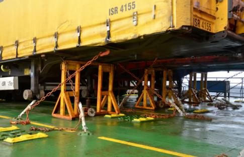 Freight ferry secure cargo