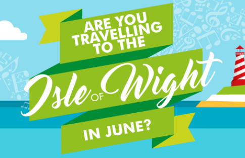 Isle of Wight festival ferry banner