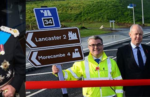 Lord Lieutenant Lancashire Bay Gateway Opening Plaque