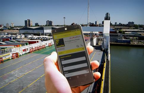 Using a mobile on a ferry