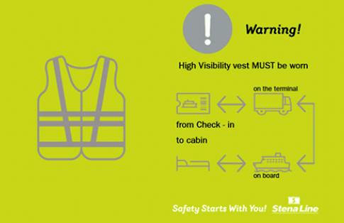 Stena Line high visibility vest