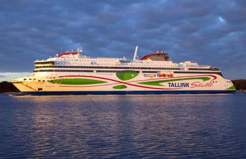 Tallink Shuttle Megastar Ferry on water