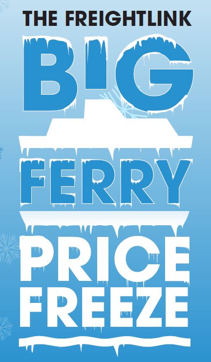 Freight Ferry Price Freeze January 2016