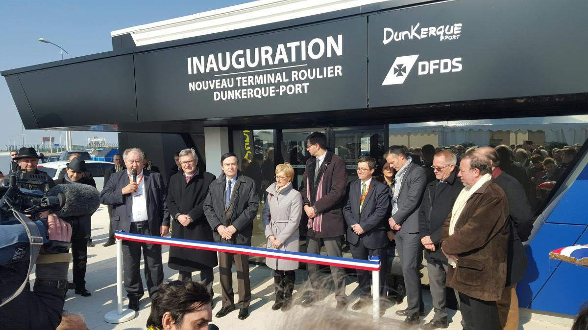 DFDS Dunkirk Opening Ceremony of new Port