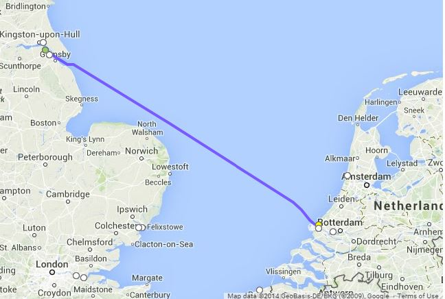 Map Of Uk Ferry Routes.How Do I Get A Ferry From Uk To Netherlands Freightlink The