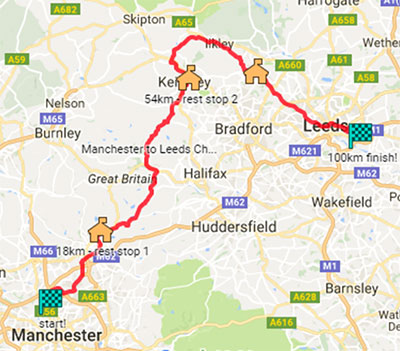 Challenge Cancer - Cycle Trans Pennine route